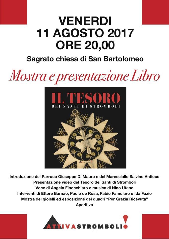Stromboli, alle 20 mostra e presentazione del libro 'Il Tesoro dei Santi'